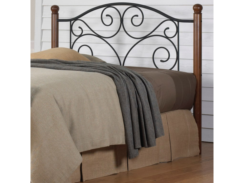Fashion Bed Group Wood and Metal BedsQueen Drake Headboard