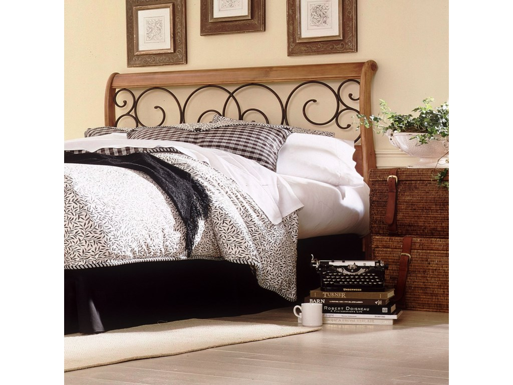 Fashion Bed Group Wood and Metal BedsKing Dunhill I Headboard