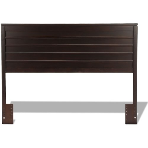 Fashion Bed Group Wood Beds Uptown Wooden Headboard Panel with Horizontal Board Design with Espresso Finish
