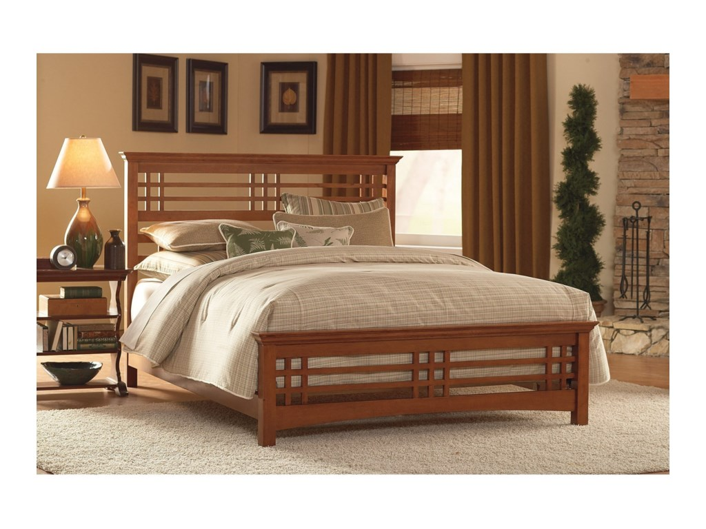 Fashion Bed Group Wood BedsCalifornia King Avery Bed w/ Wood Side Rails