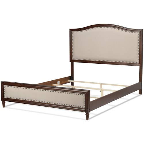 Fashion Bed Group Wood Beds King Grandover Transitional Wood Ornamental Bed