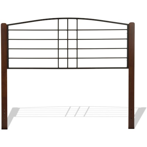 Fashion Bed Group Wood Beds Full Dayton Wood and Metal Headboard