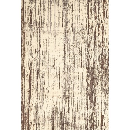 "Cream/Brown 2'-2"" x 4' Area Rug"