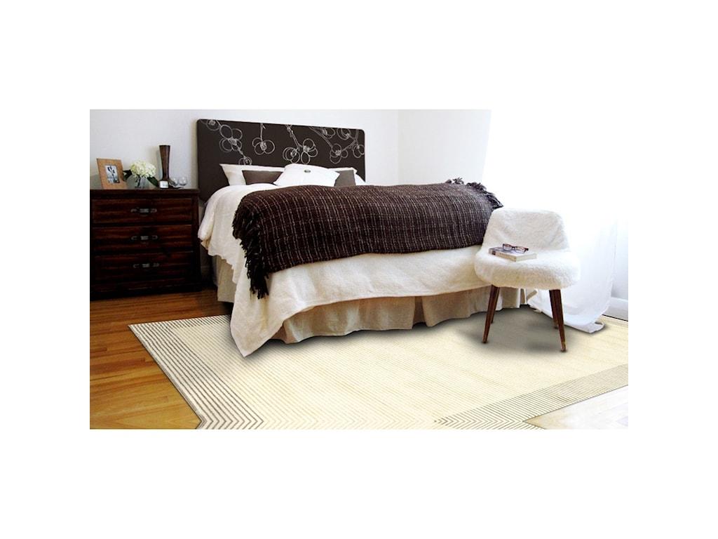 Feizy Rugs Azeri IIICream/Gray 5' x 8' Area Rug