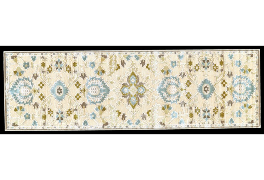 Feizy Rugs Saphir Mah Cream Spa Blue 7
