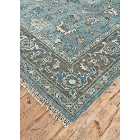 "Steel/Chocolate 9'-6"" x 13'-6"" Area Rug"