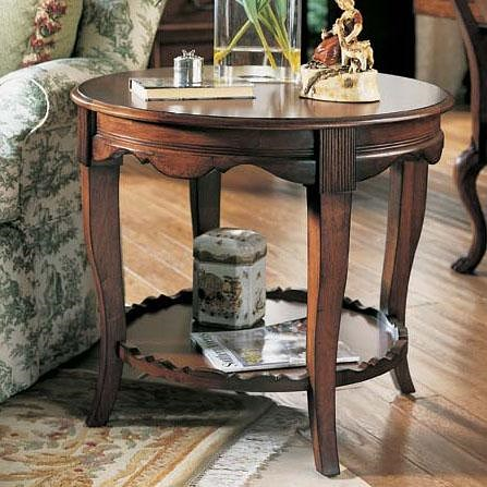 Fine Furniture Design RayLen Vineyards Round Wood End Table