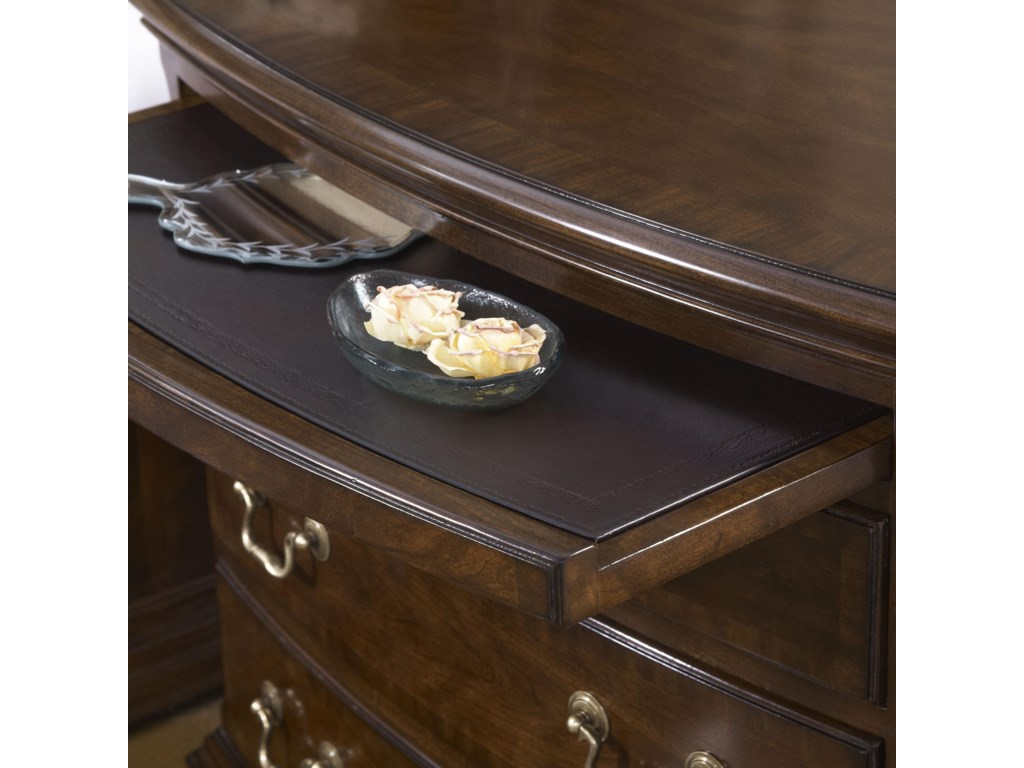 Pull Out Shelf with Tooled Leather Top