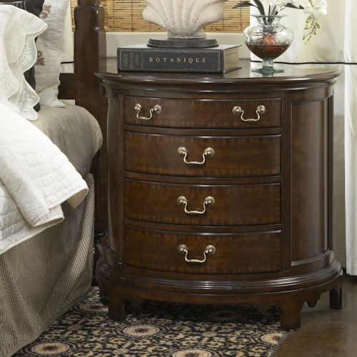 Fine Furniture Design American Cherry Norfolk Demilune Chest with Four Drawers