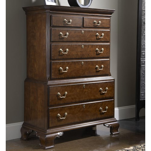 Fine Furniture Design American Cherry Hampton Chest on Chest with Seven Drawers