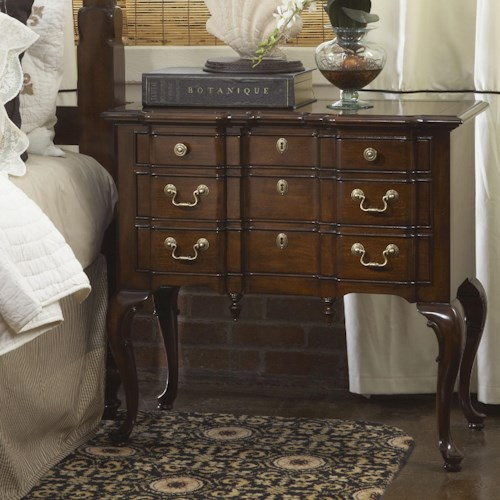 Fine Furniture Design American Cherry Suffolk Lowboy with Three Drawers