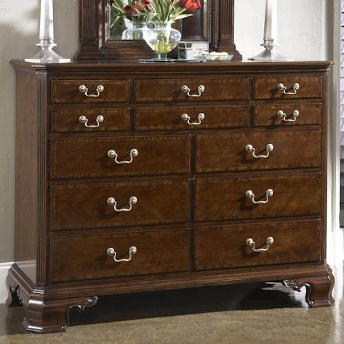 Fine Furniture Design American Cherry Portsmouth Entertainment Dressing Chest with Nine Drawers