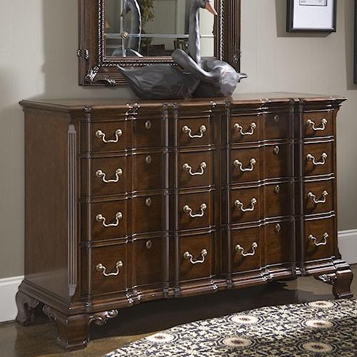 Fine Furniture Design American Cherry Franklin Goddard Dresser with Eight Drawers