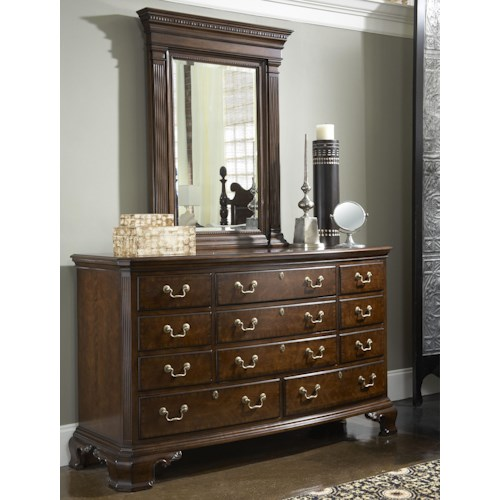 Belfort Signature Belmont Newport Dresser & Quincy Vertical Mirror Combination