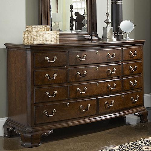 Fine Furniture Design American Cherry Newport Dresser with Eleven Drawers