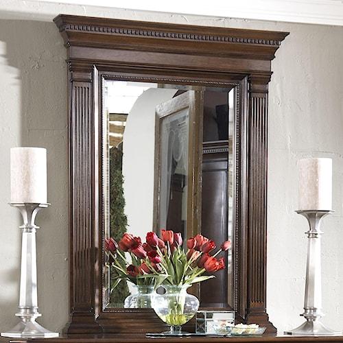 Fine Furniture Design American Cherry Quincy Vertical Beveled Glass Mirror
