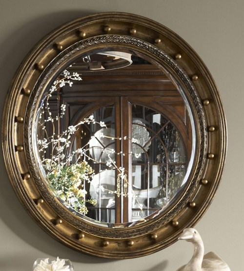 Fine Furniture Design American Cherry Westminster Looking Glass with Gold Leaf