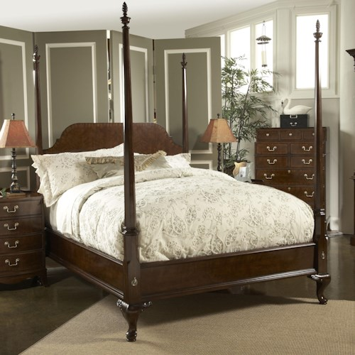 Fine Furniture Design American Cherry California King-Size Bridgeport Pencil Poster Bed