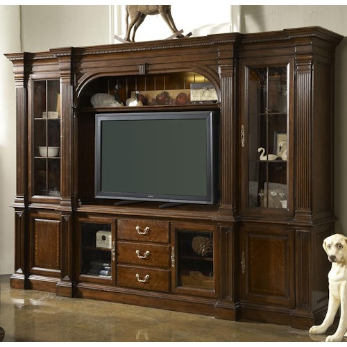 Fine Furniture Design American Cherry Salisbury Six Piece Home Entertainment Wall Unit