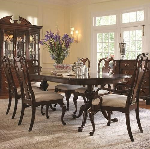 Fine Furniture Design American Cherry 7 Piece Traditional Table and Chair Set