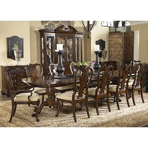Belfort Signature Belmont 11 Piece Fredericksburg Dining Table & Brandywine Chairs Set