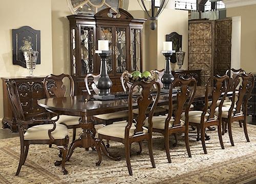 Fine Furniture Design American Cherry 11 Piece Fredericksburg Dining Table & Brandywine Chairs Set