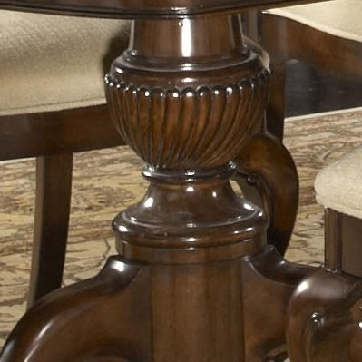 Double Pedestal Base with Beautiful Twisting Detail on the Fredericksburg Dining Table