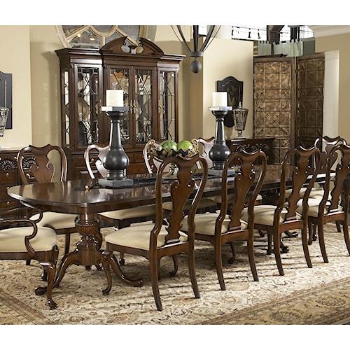 Belfort Signature Belmont Fredericksburg Rectangular Double Pedestal Dining Table
