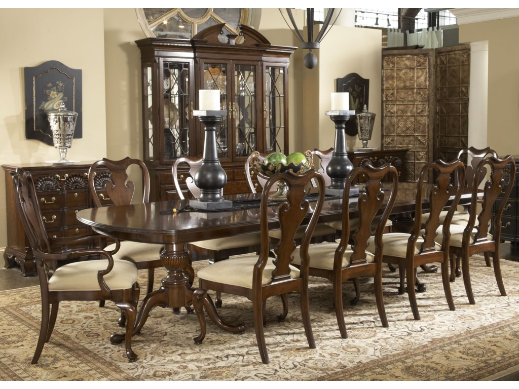 Shown with Brandywine Arm Chairs, Fredericksburg Dining Table, Franklin Godard Chest, and Andover Breakfront China