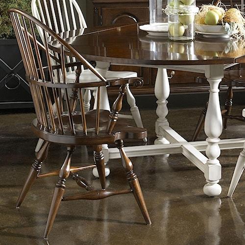 Fine Furniture Design American Cherry Rhode Island Widsor Arm Chair