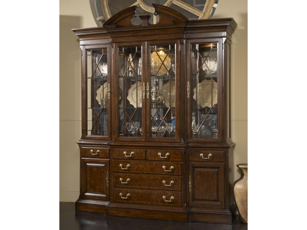 Fine Furniture Design American CherryAndover Breakfront China Cabinet