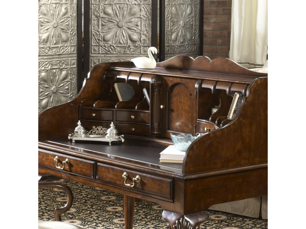 Features a Tooled Leather Top