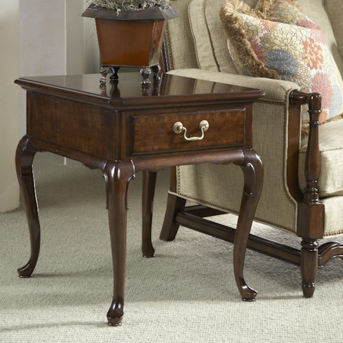 Fine Furniture Design American Cherry Chester End Table with One Drawer
