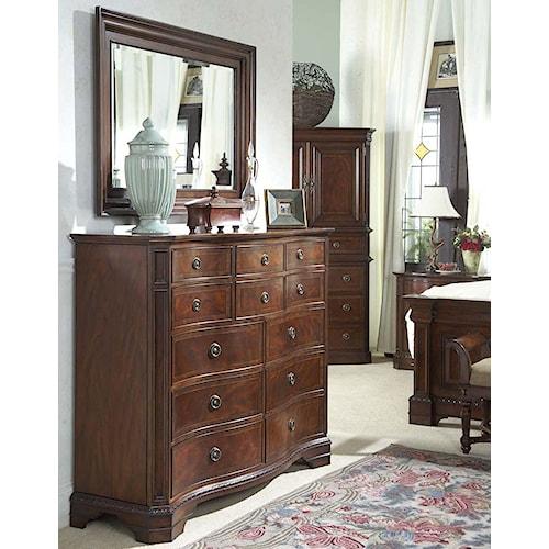 Belfort Signature Westview Classic Double Dresser with Landscape Mirror