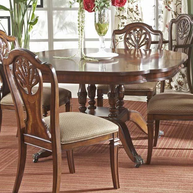 Fine Dining Room Tables: Fine Furniture Design Antebellum Dining Table With Elegantly Crafted Pedestal
