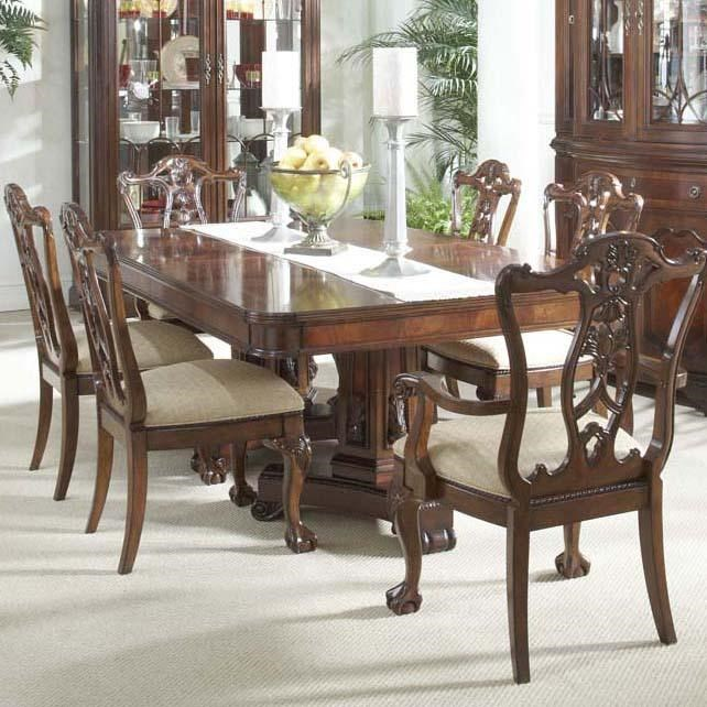 Fine Furniture Design Antebellum 7 Piece Dining Room Set With Elegant  Double Pedestal Table And Ball