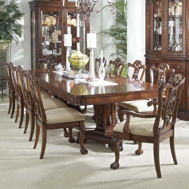 Belfort Signature Westview 11 Piece Dining Set With Double Pedestal Table  And Ball U0026 Claw Side And Arm Chairs   Belfort Furniture   Dining 7 (or  More) Piece ...