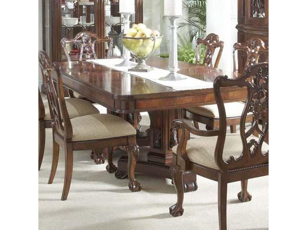 Westview Dining Table with Decorative Double Pedestals by Belfort Signature  at Belfort Furniture