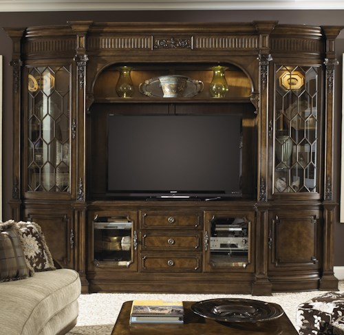 Fine Furniture Design Belvedere Traditional Entertainment Center Wall Unit