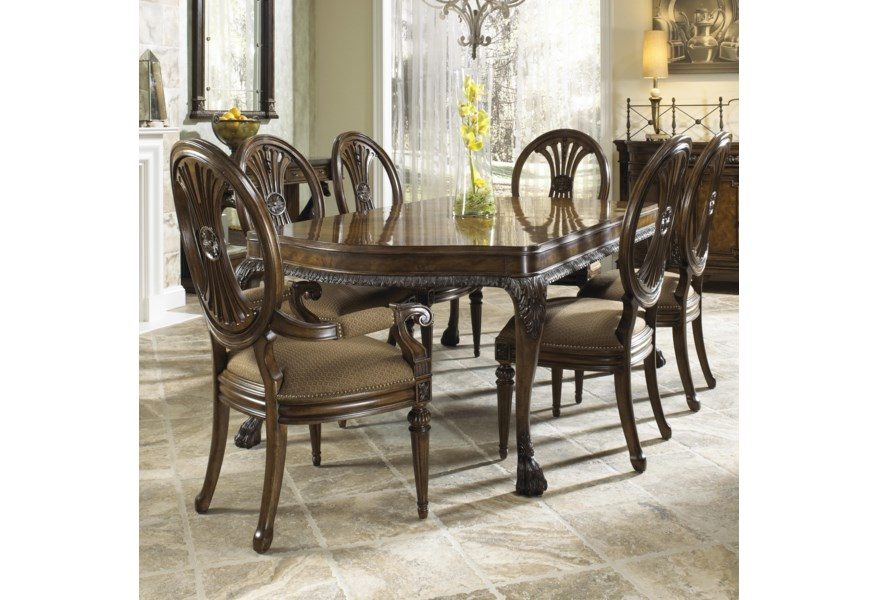 Traditional Seven Piece Dining Set