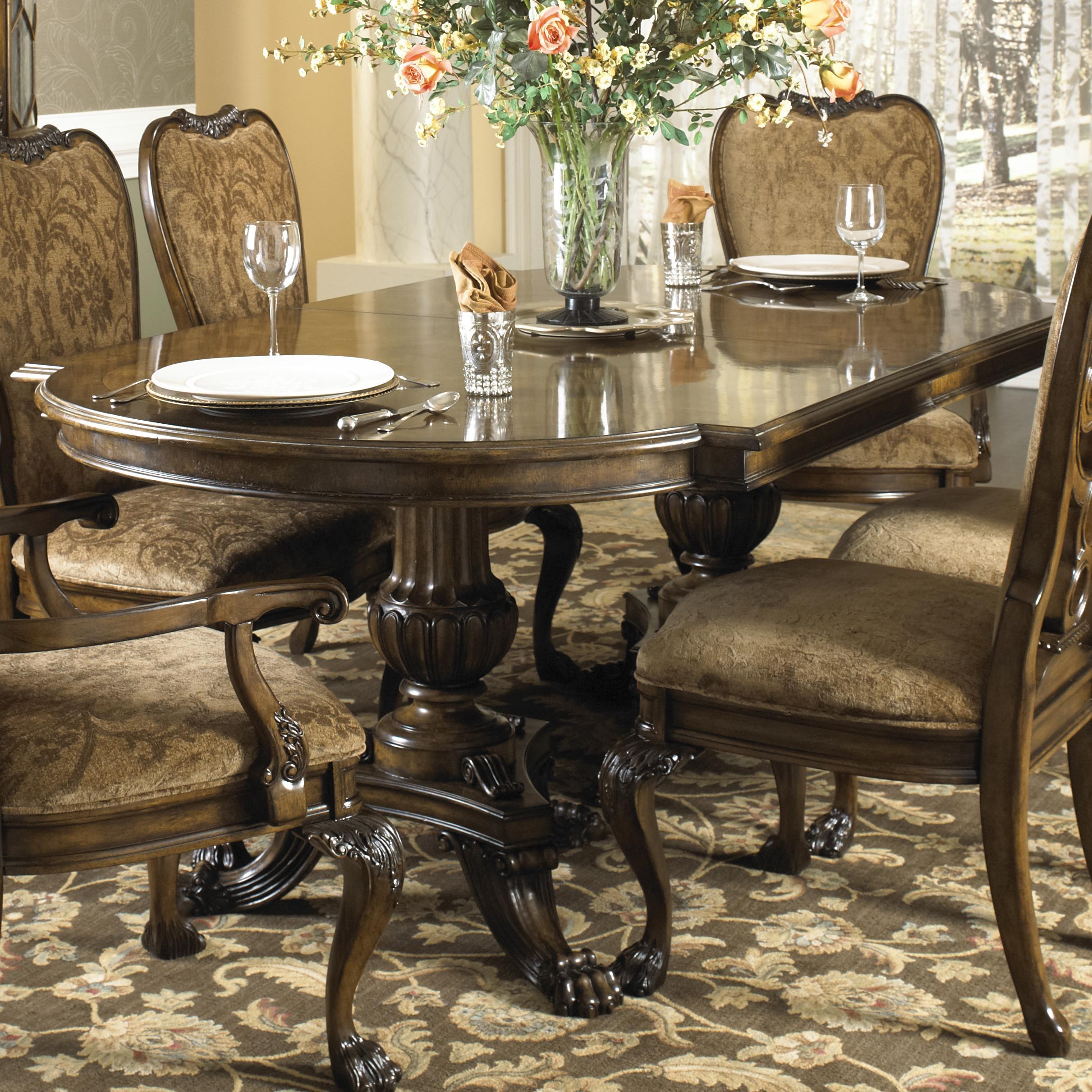 Fine Furniture Design Belvedere Formal Dining Table With Two Hand Carved  Pedestals   Baeru0027s Furniture   Dining Tables