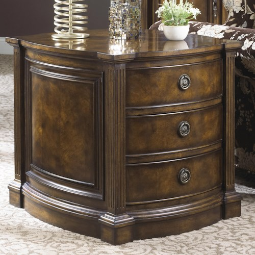 Fine Furniture Design Belvedere Traditional Antique Hand Carved Commode Table with Three Drawers