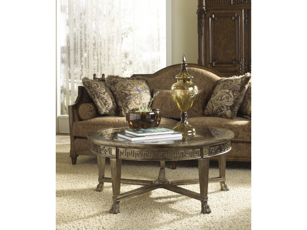 Fine furniture design belvedere 1151 930 grecian style round fine furniture design belvedere grecian style round coffee table with glass top geotapseo Image collections