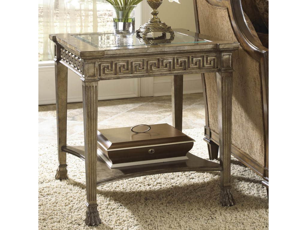 Fine Furniture Design Belvedere Grecian Style Side Table With Gl Top