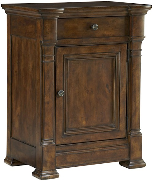 Fine Furniture Design Biltmore Bedside Chest with 1 Drawer and 1 Door