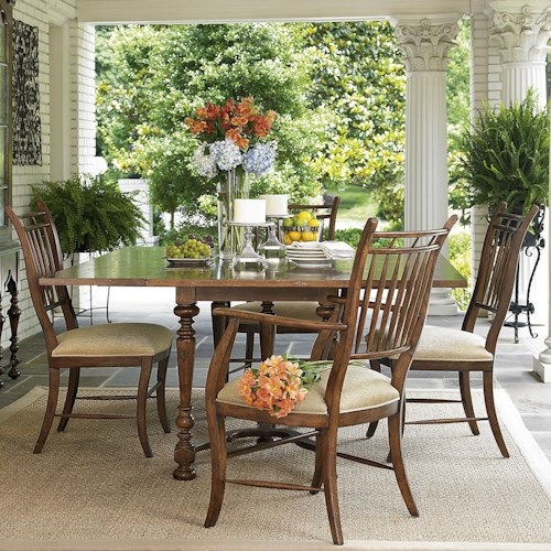 Fine Furniture Design Biltmore Flip Top Table Dining Set with Spindle Back Chairs