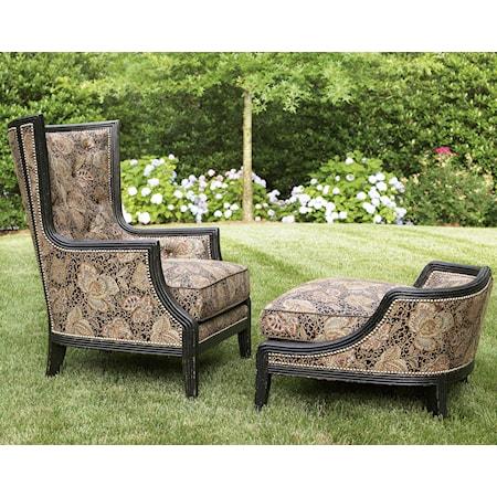 Comtesse Chair and Ottoman Set
