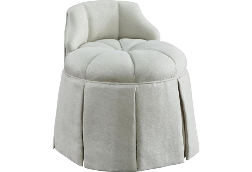 Michael Harrison Brentwood Chloe Vanity Stool with Tufted ...