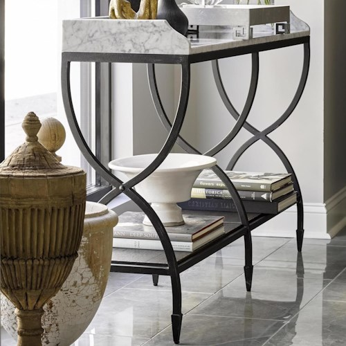 Fine Furniture Design Brentwood Solana Console with Carrera Marble Top