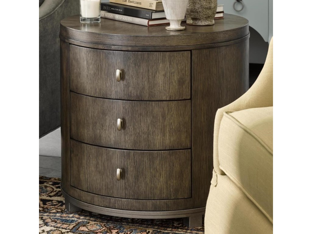 Fine Furniture Design Brentwood Byron Drum Table with Metal Base and ...